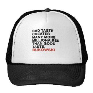 citas del bukowski gorras