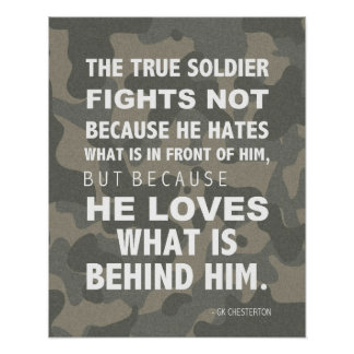 Citas del ejército, poster militar, Chesterton