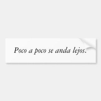 Citas del español pegatina para auto
