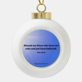 Citas del navidad adorno de cerámica en forma de bola