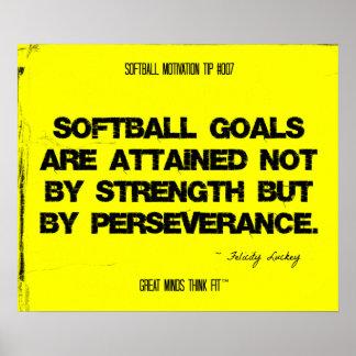 Citas del softball en los hilos 007 póster