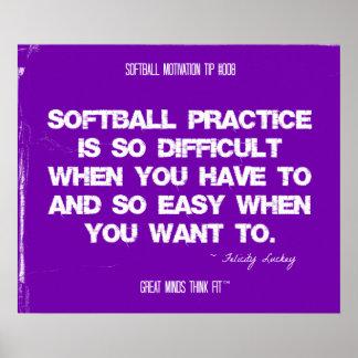 Citas del softball en los hilos 008 póster