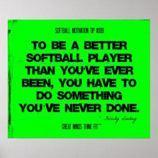 Citas del softball en los hilos 009 póster