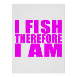 Citas divertidas de la pesca del chica: Me pesco p Posters