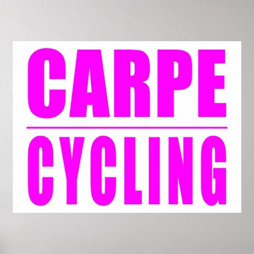 Citas divertidas de los ciclistas del chica: Ciclo Póster