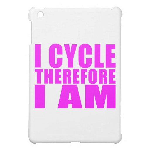 Citas divertidas de los ciclistas del chica: Me co iPad Mini Protector