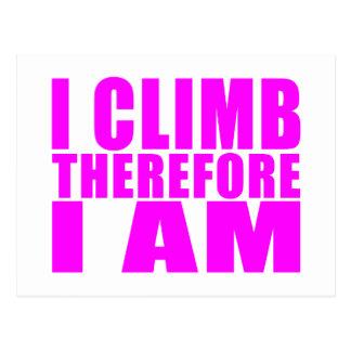 Citas divertidas de los escaladores del chica: Me Tarjetas Postales