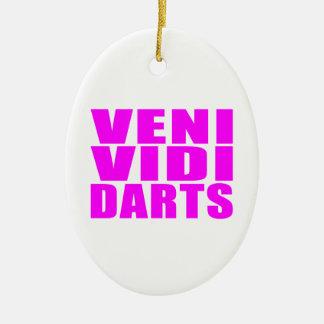Citas divertidas de los jugadores de dardos del adorno ovalado de cerámica