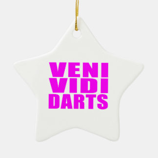 Citas divertidas de los jugadores de dardos del adorno de cerámica en forma de estrella