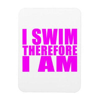 Citas divertidas de los nadadores del chica: Me na Imán De Vinilo