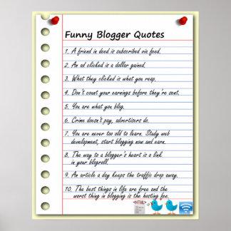 Citas divertidas del Blogger Póster