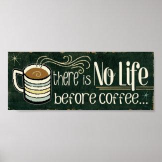 Citas divertidas del café póster