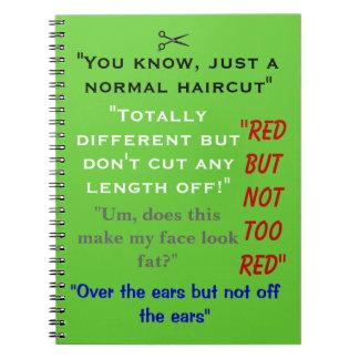 Citas divertidas del cuaderno del estilista