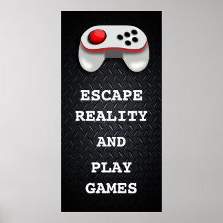 Citas divertidas del videojugador póster