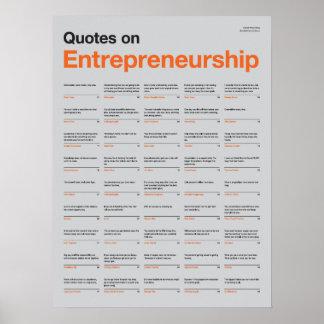 Citas en el poster del espíritu emprendedor - edic