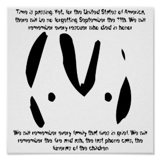 Citas extranjeras del emoticon 9/11 póster