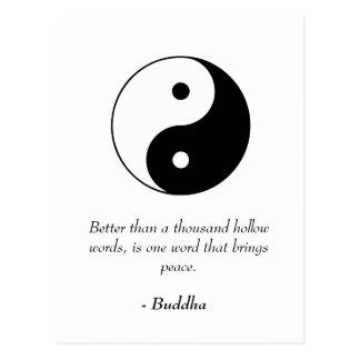 Citas famosas de Buda - palabras y paz huecos Postal