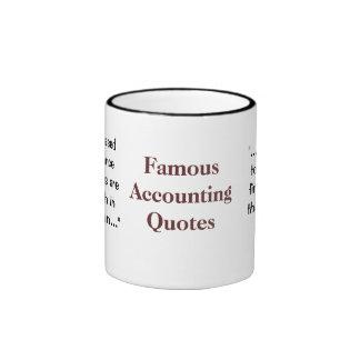 Citas famosas de la contabilidad - divertidas y taza de dos colores