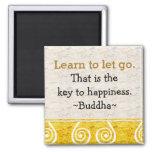 Citas inspiradas Buddha|Happiness Imán Cuadrado