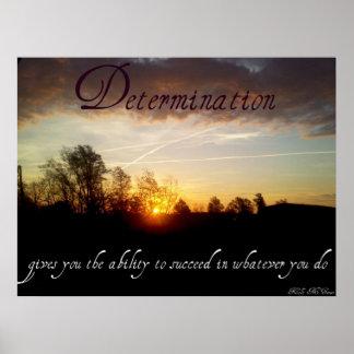Citas inspiradas de la determinación posters
