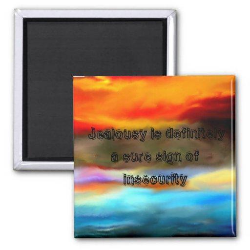 Citas inspiradas de los CELOS de la puesta del sol Imán De Nevera