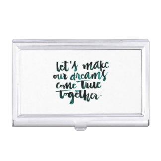 Citas inspiradas: Hagamos que nuestros sueños Cajas De Tarjetas De Negocios