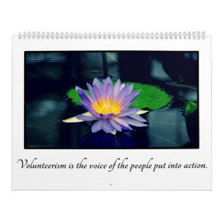 Citas inspiradas para los voluntarios adaptables calendario de pared