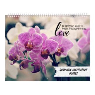Citas inspiradas románticas calendarios