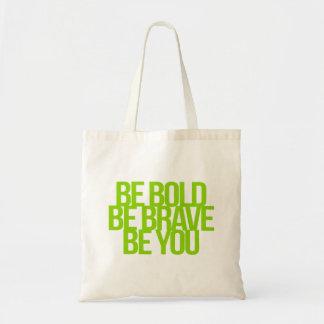 Citas inspiradas y de motivación bolsa tela barata