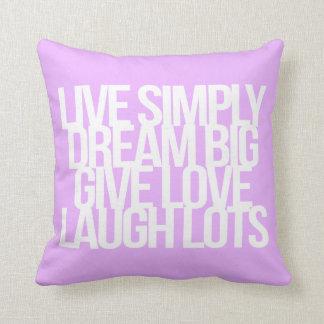 Citas inspiradas y de motivación almohadas