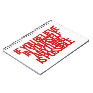 Citas inspiradas y de motivación libros de apuntes con espiral