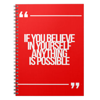 Citas inspiradas y de motivación cuaderno