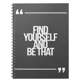 Citas inspiradas y de motivación note book