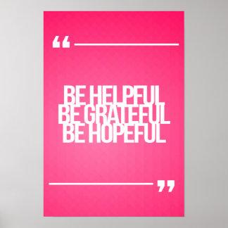 Citas inspiradas y de motivación posters