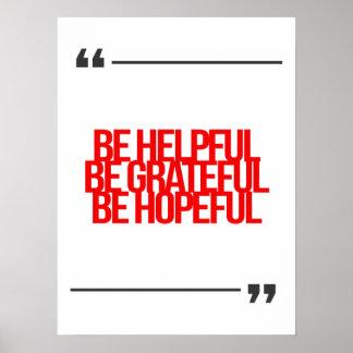 Citas inspiradas y de motivación poster