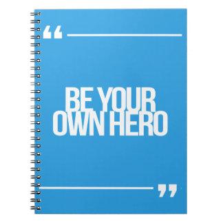 Citas inspiradas y de motivación spiral notebooks
