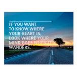 Citas inspiradas y de motivación tarjetas postales