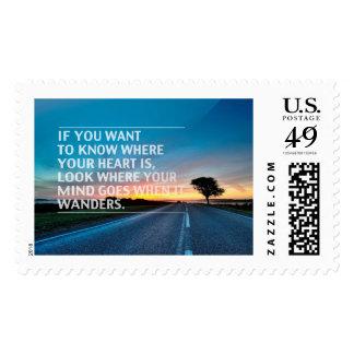 Citas inspiradas y de motivación timbre postal