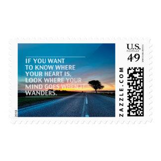 Citas inspiradas y de motivación timbres postales