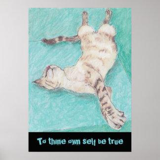 Citas lindas shakespeare de los dibujos de los gat póster