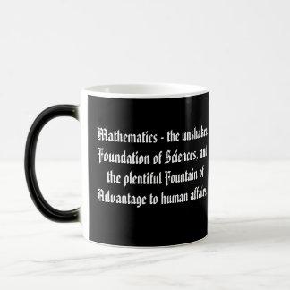 Citas matemáticas taza mágica