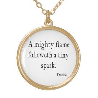 Citas minúsculas de la cita de la chispa de la lla collares personalizados