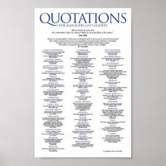 Citas para los encargados y los líderes póster