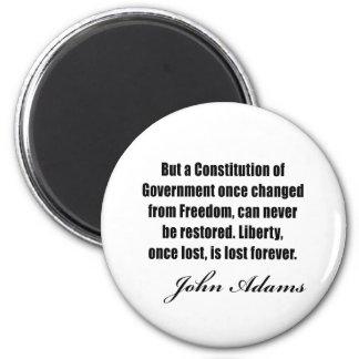 Citas políticas de John Adams Imán Redondo 5 Cm
