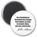 Citas políticas de John Adams Imanes De Nevera