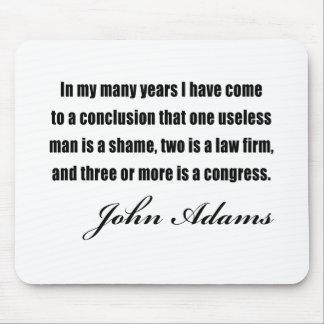 Citas políticas de John Adams Mousepads