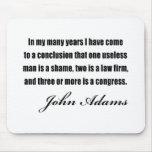 Citas políticas de John Adams Tapetes De Raton