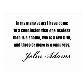 Citas políticas de John Adams Tarjeta Postal
