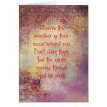 Citas por Rumi (tarjeta de felicitación)