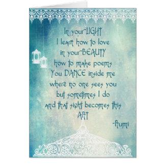 Citas por Rumi (tarjeta de felicitación) Tarjeta De Felicitación